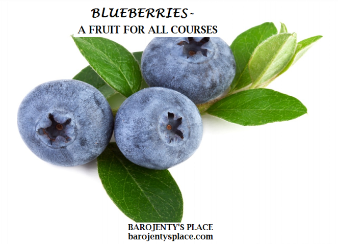Blueberries - A fruit for all courses 2
